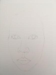 Skiss självporträtt